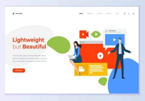 light weight website design service in Ottawa